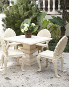 Outdoor Structured Table & Shell-Back Chair