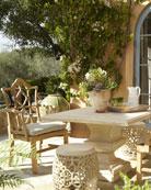 Outdoor Table & Armchair