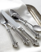 Five-Piece Fleur De Lis Flatware Place Setting