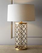 Quatrefoil Drum Lamp