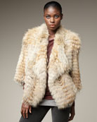 Vince Coyote Fur Jacket
