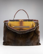 Fendi Fur Peekaboo Tote, Small