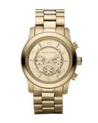 Golden Oversized Runway Watch