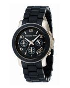Midsized PU Chronograph Watch
