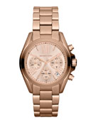Mid-Size Rose Golden Stainless Steel Bradshaw Chronograph Watch