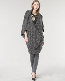 Stella McCartney Exclusive Mouline Sweater Coat, Horse-Print Tee & Skinny Jeans