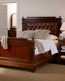 ralph lauren langholm leather tufted headboard bed from