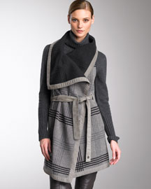 Loro Piana Plaid Blanket-Style Vest