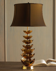 Jamie young sculpture faux horn lotus flower metal table lamp jamie young lotus flower lamp aloadofball Gallery