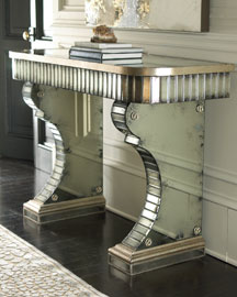 John Richard Collection Stella Mirrored Console from neimanmarcus.com