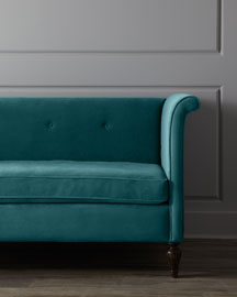Neiman marcus haute house charleston austin velvet sofa for Home furniture austin mn