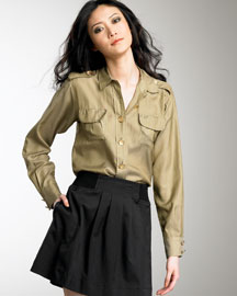 See by Chloe Military Pocket Blouse