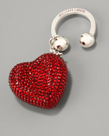 Judith Leiber-Heart 'N' Soul Key Ring, Red-Neiman Marcus from neimanmarcus.com