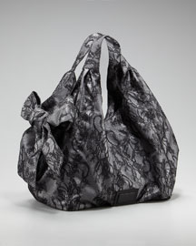 Valentino Lace Nuage Bow Tote :  floral bag nuage gunmetal