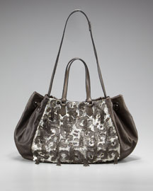 Valentino Glam Sequined Shoulder Bag :  sequined bag top handle glam