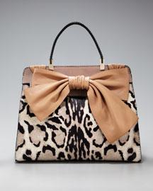 Valentino Aphrodite Leopard-Print Shopper