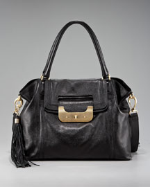 Diane von Furstenberg Harper Leather Satchel