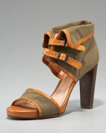 Chloe Canvas Ankle-Cuff Sandal