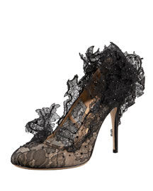 Valentino Sculpture Lace Pump