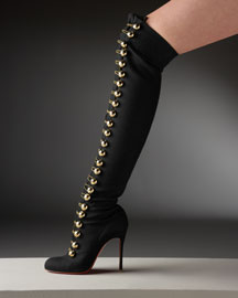 Christian Louboutin Flannel Over-The-Knee Boot