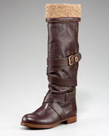 Chloe Strap-Shaft Flat Boot