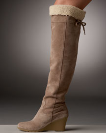 Bettye Muller Shearling Over-the-Knee Boot