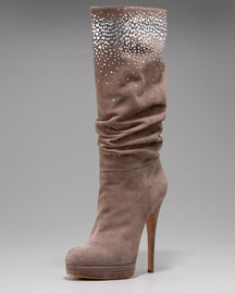 Casadei Saturn Suede Slouch Boot from neimanmarcus.com
