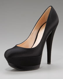 Casadei Satin Triple-Platform Pump