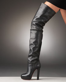 Christian Louboutin Supra Over-the-Knee Boot