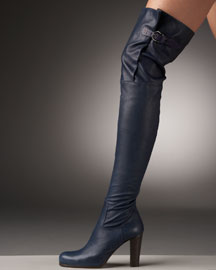 Henry Beguelin Buckled Over-the-Knee Boot