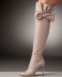 Valentino Bow-Topped Over-the-Knee Boot