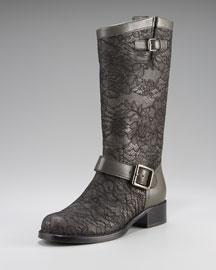 Valentino-Valentino Lace Biker Boot-Neiman Marcus