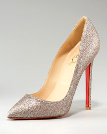 Christian Louboutin Pigalle Glittered  Pump