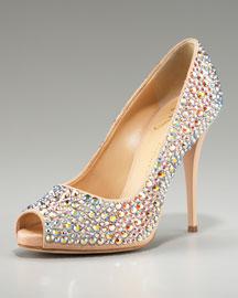 Giuseppe ZanottiPave Iridescent Pump :  bridal zanotti heels evening