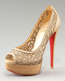 Christian Louboutin Pampas Laser-Cut Pump