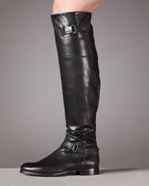Vera Wang Lavender Jemma Flat Leather Knee Boot
