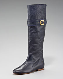 Chloe Paddington-Buckle Flat Boot