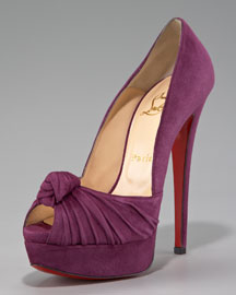 Christian Louboutin Jenny Knotted Platform Pump, Suede