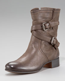 Prada Flat Double Buckle Boot
