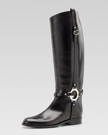 Gucci New Charlotte Flat Riding Boot
