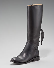 Valentino Tall Back Lace Up Knee Boot