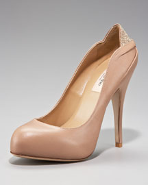 Valentino Microstudded-Heel Platform Pump