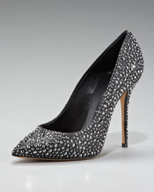 Casadei Crystal-Covered Pump