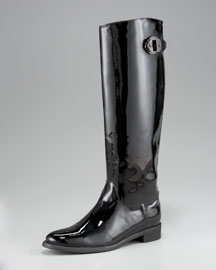 Burberry Patent Leather Rain Boot