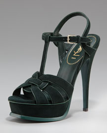 Yves Saint Laurent Tribute Suede Sandal