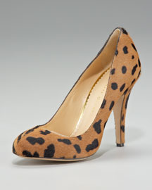 Charlotte Olympia Two-Face Calf Hair Pump
