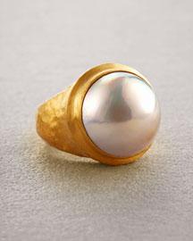 Yossi Harari 24K Mabe Pearl Ring