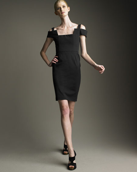Fendi Cotton Square-Neck Dress