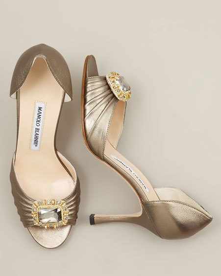 Jeweled d'Orsay & Metallic Mary Jane :  nappa leather leather women open toe