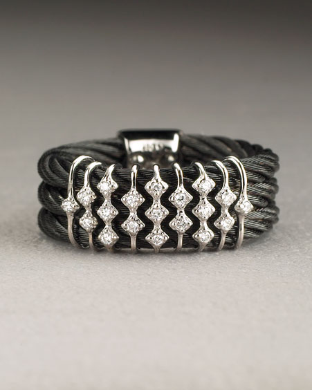Fashion Jewelry - Charriol Celtic Noir Diamond Ring from neimanmarcus.com